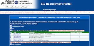 EIL Recruitment 2021 05 Technician Posts