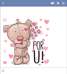 Teddy emoji for Facebook