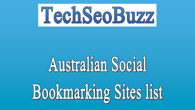 Australian Social Bookmarking Sites list