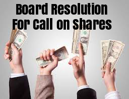Board-Resolution-Call-on-Shares