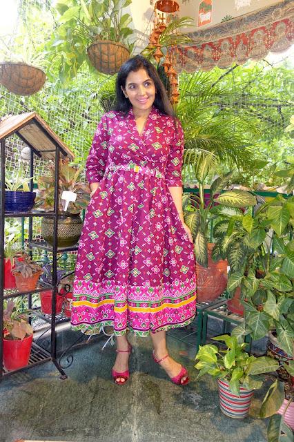 Classic patola print dress
