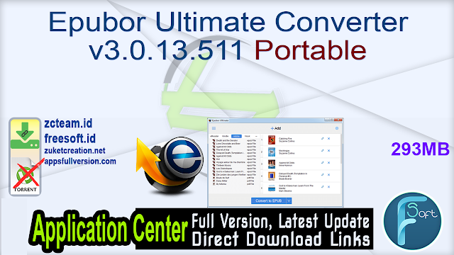 Epubor Ultimate Converter v3.0.13.511 Portable_ ZcTeam.id