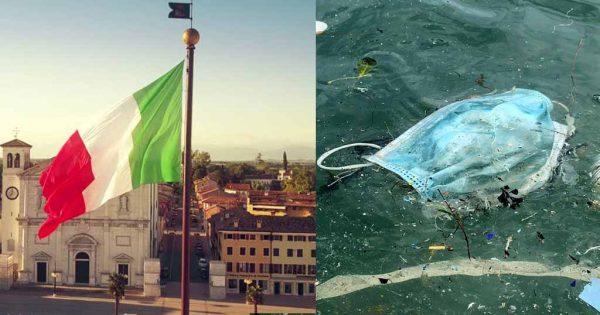Ιταλία: Πρόστιμο μέχρι 500 ευρώ σε όποιον πετάει μάσκες έξω από τους κάδους