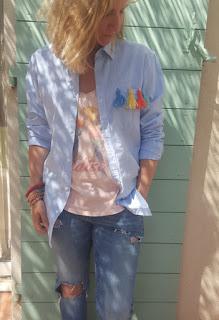 DIY; camisa con borlas. www.aoyunmix.com