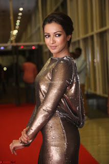 Actress Catherine Tresa in Golden Skin Tight Backless Gown at Gautam Nanda music launchi ~ Exclusive Celebrities Galleries 056.JPG