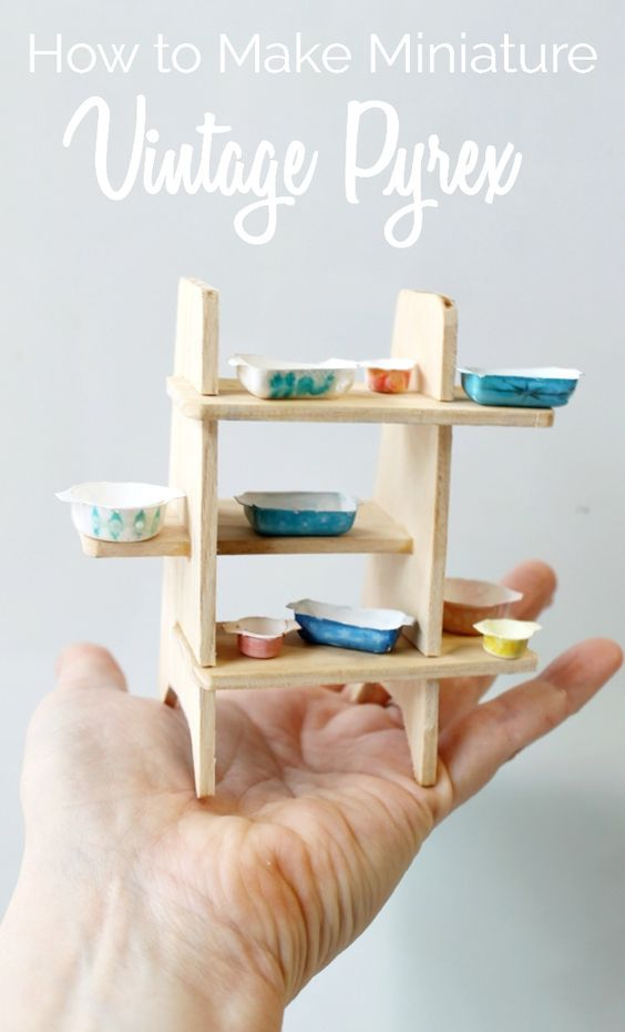how to make miniature dollhouse pyrex dishes