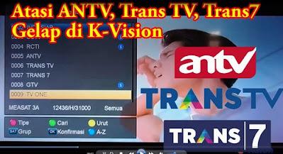 Mengatasi Antv Trans tv Trans7 Gelap