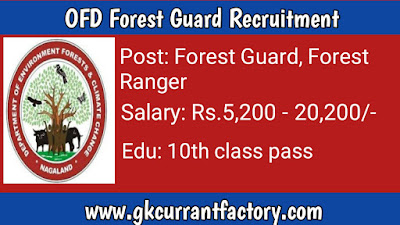 Department of Forests Guard Recruitment