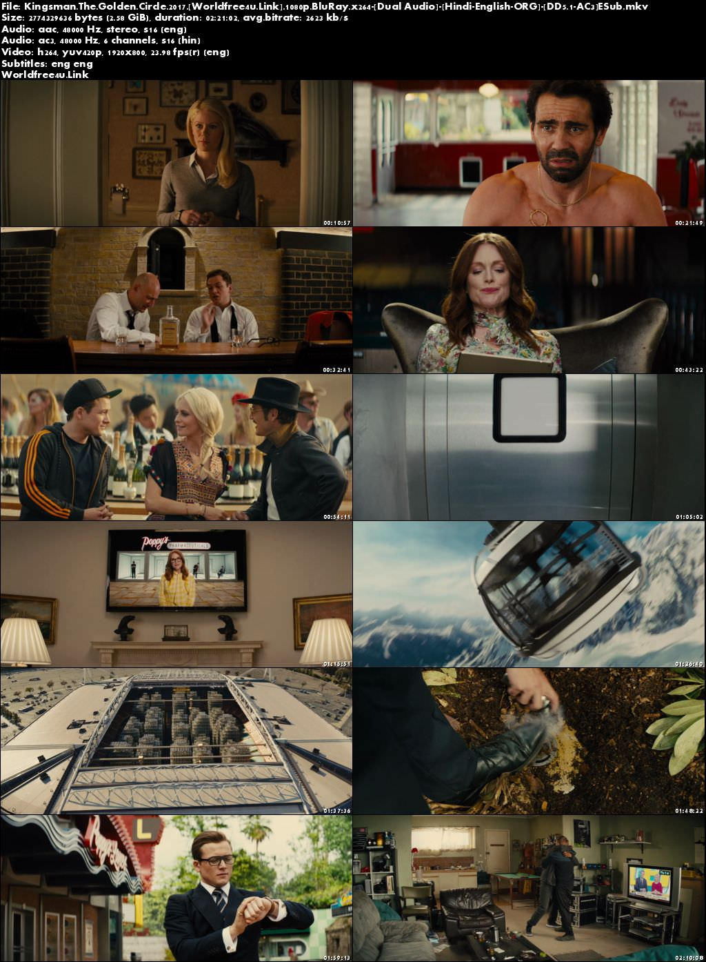 Screen Shoot of Kingsman 2 The Golden Circle 2017 BRRip 1080p Dual Audio Download Full Hd Movie Download in Hindi Dubbed