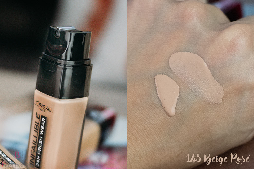 LOreal Infaillible 24h Fresh Wear Foundation Pumpspender Swatch