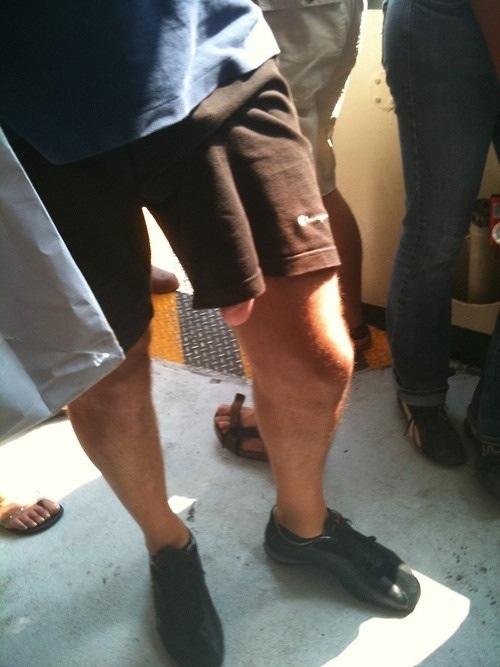 Upshorts - panties peeped under shorts