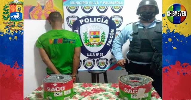 Peligroso delincuente detenido por robar dos rollos de alambres de púas