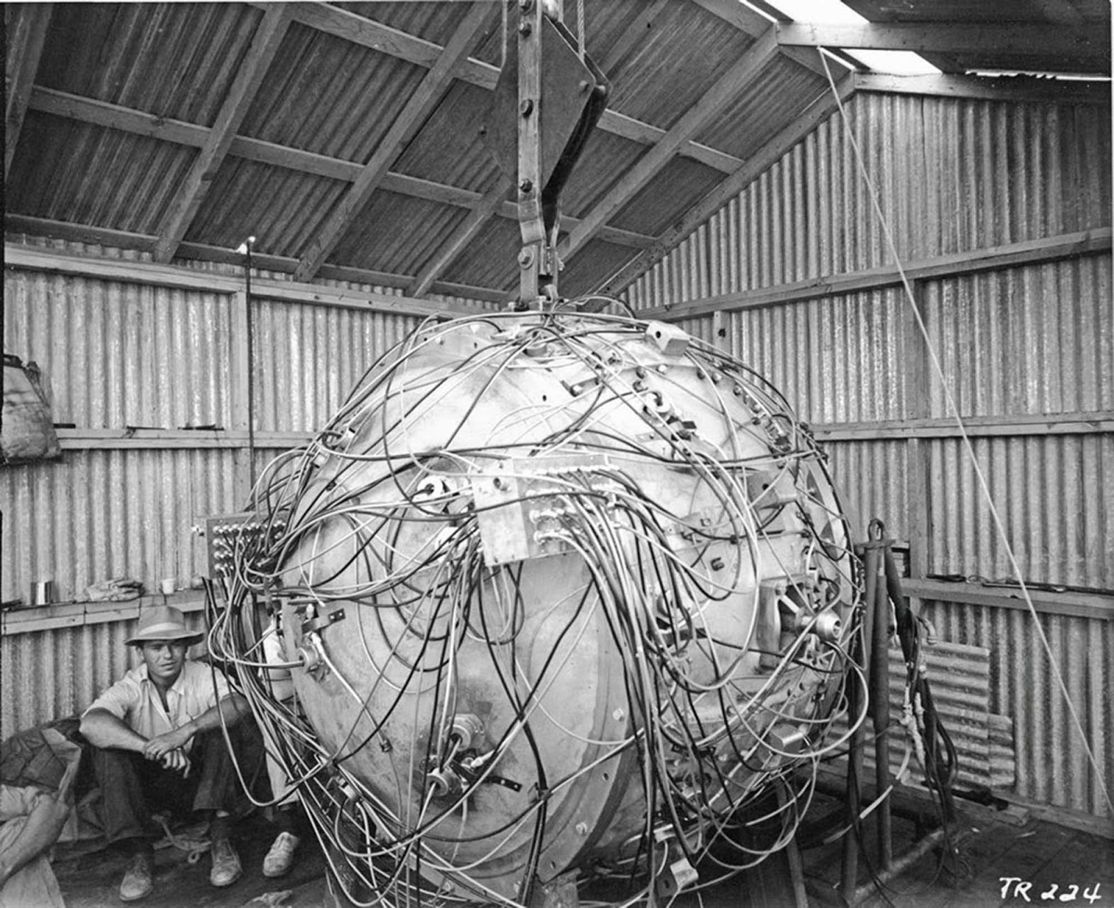 The first atomic bomb, The Gadget, 1945.
