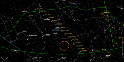 comet path for the next few days