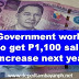 Government workers to get P1,100 salary increase next year
