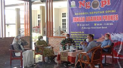"""Jangan Abaikan Prokes, Wakil Ketua 1 Satgas Covid - 19 Aceh Barat """"Ngopi"""" Bersama Radio Djati FM Dan Dalka FM"""