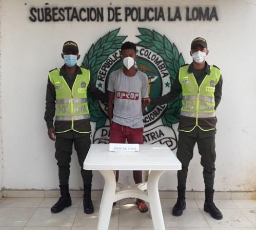 hoyennoticia.com, En La Loma lo cogieron con 40 gramos de base de coca