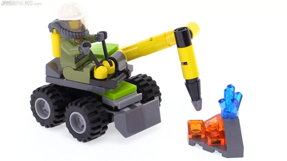 LEGO City Volcano Jackhammer polybag review! 30350