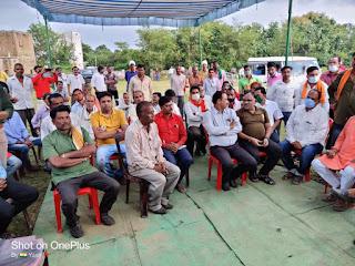ग्राम पंचायत हरन्या में हुआ नलजल योजना का भूमिपूजन