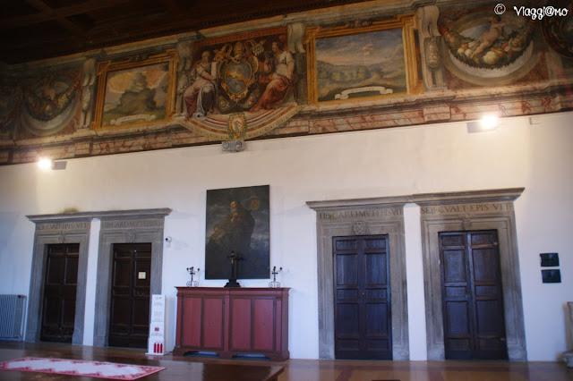 La Sala Gualterio è una delle Stanze del Palazzo dei Papi di Viterbo