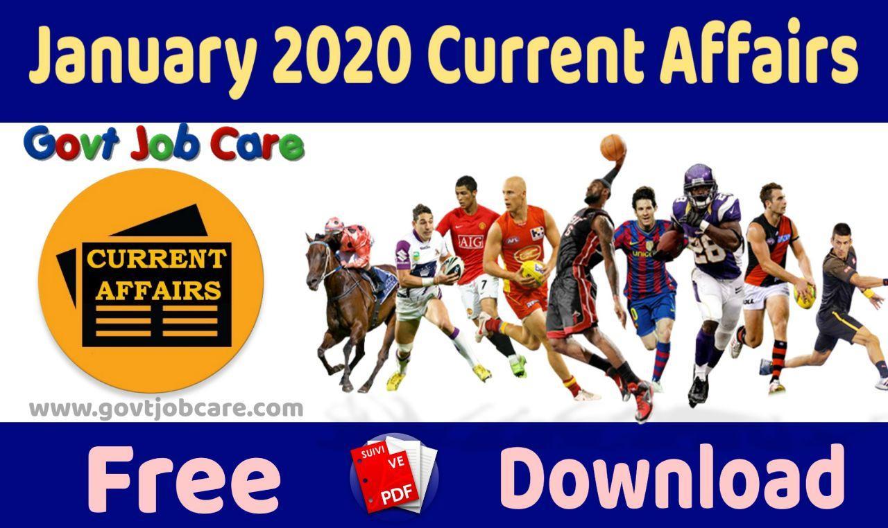 January 2020 Current Affairs Pdf