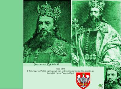 Kazimierz III Wielki, zieleń, zielony