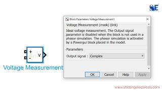voltage measurement in matlab simulink