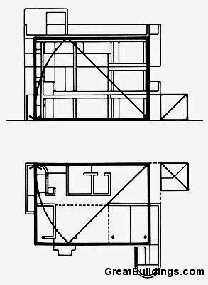 Richard Meier Smith House Plan Sketch Coloring Page
