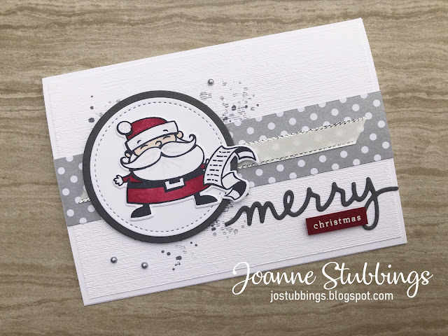Jo's Stamping Spot - What Will You Stamp #197 using Signs of Santa stamp set by Stampin' Up!