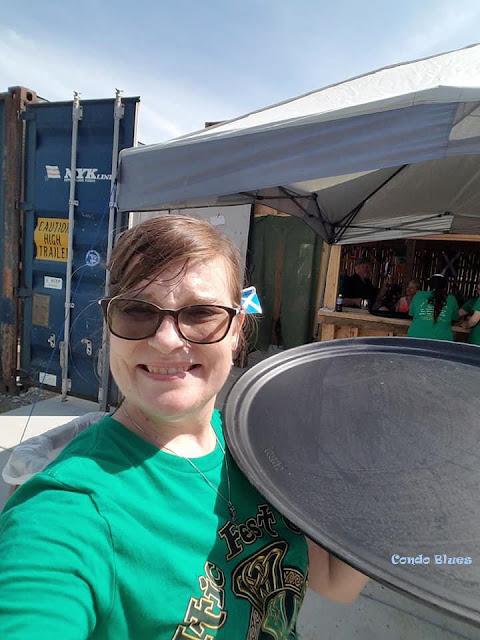 serving celtic feast at Celtic Fest Ohio