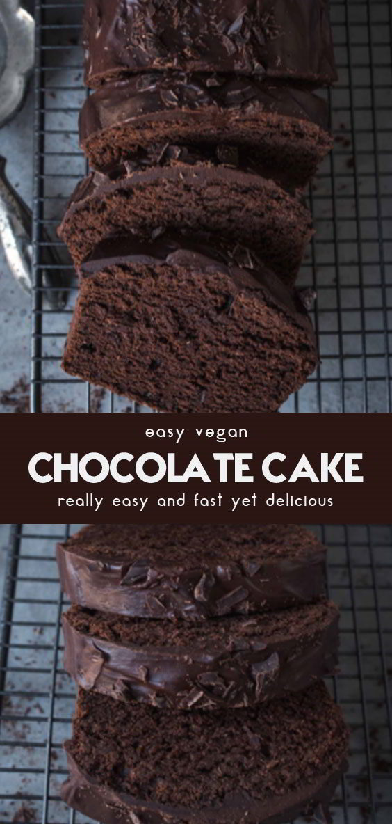 The Best Vegan Chocolate Cake #vegan #cake #dessert #chocolate