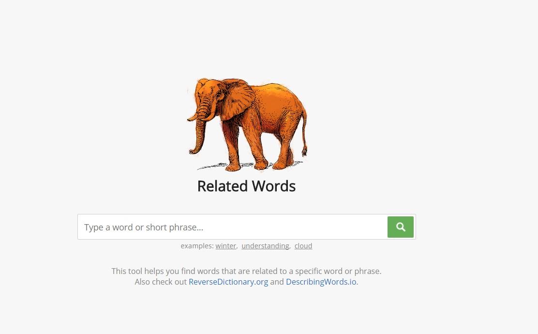 مواقع رائعة تقدم لكم كلمات ذات الصلة , شبكة الكلمات فى اللغة الانجليزية Related Words
