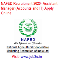 NAFED Recruitment 2020, Assistant Manager (Accounts and IT) Apply Online