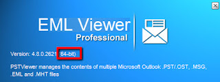 Checking for 32 or 64-bit Eml Viewer.