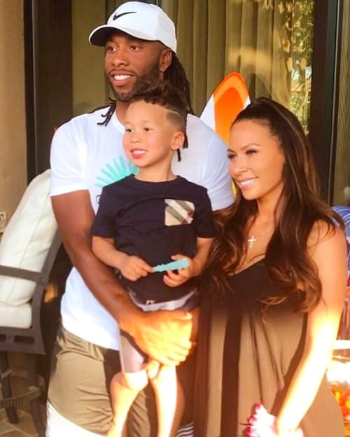 Larry Fitzgerald With Son And Son S Mother