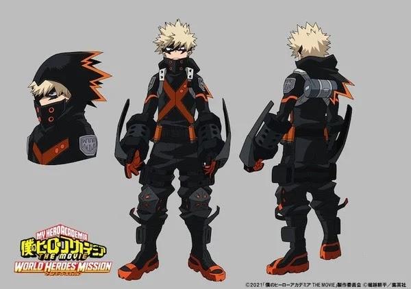 My Hero Academia The Movie: World Heroes' Mission revela loe nuevos trajes de Deku, Bakugo y Todoroki.