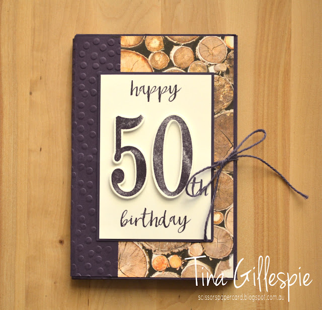 scissorspapercard, Stampin' Up!, Art With Heart, Wood Textures, Number Of Years, Milestone Moments, Tabs For Everything, Bunch Of Blossoms