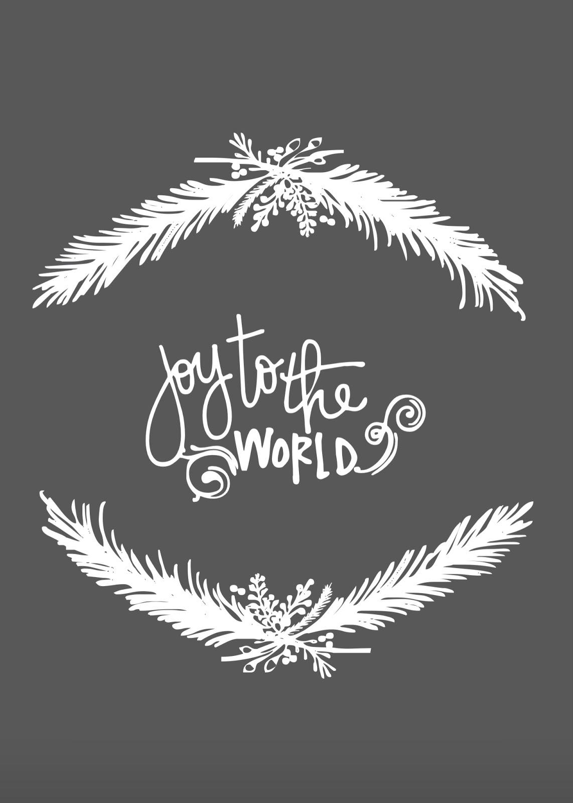 Joy to the World free Christmas Printable 4x6