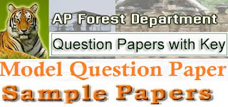 AP Forest Department Model Question Papers 2017 Answer Key Download