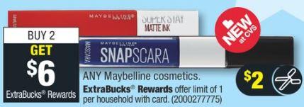FREE Maybelline Mascara CVS Deal - 6/30-7/6
