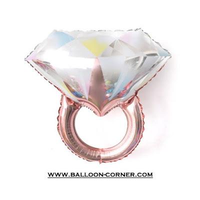 Balon Foil Diamond Ring (Rose Gold)