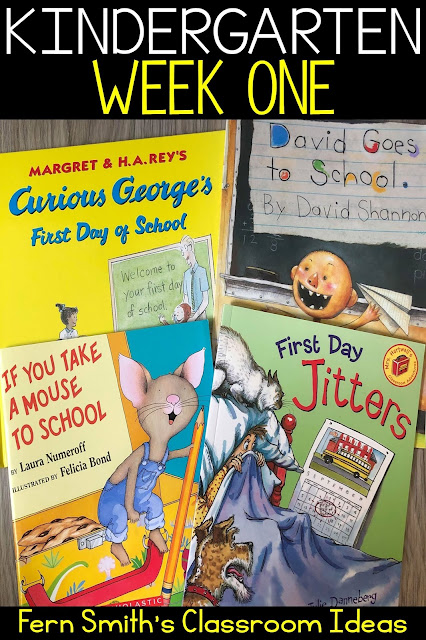 Kindergarten Week One Themes and Ideas to Help Beginning Teachers in Their New Classrooms. #FernSmithsClassroomIdeas
