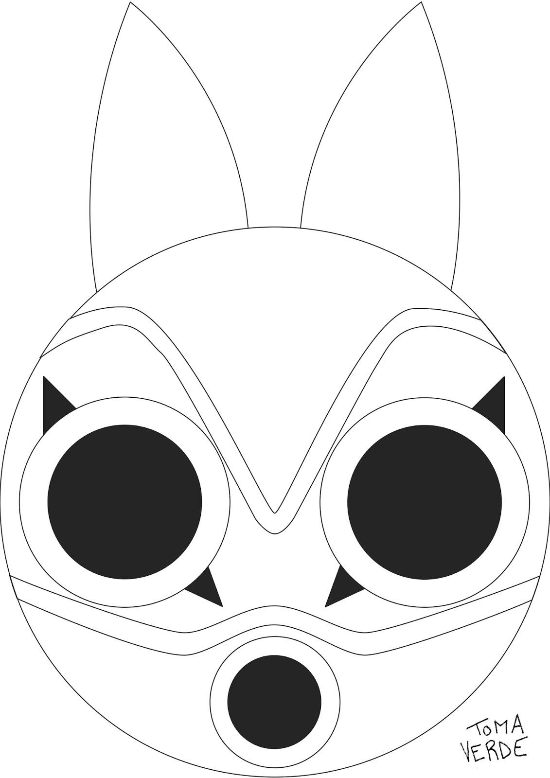 Coloriage Princesse Mononoke.Toma Co Le Masque De La Princesse Mononoke