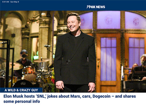 Elon Musk: A wild and crazy guy (Source: Saturday Night Live)