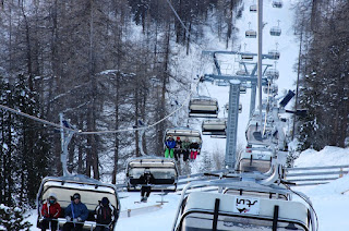 The old Solaise Express chairlift that is being replaced