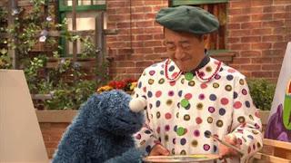 Cookie Monster, Alan, Sesame Street Episode 4407 Still Life With Cookie season 44