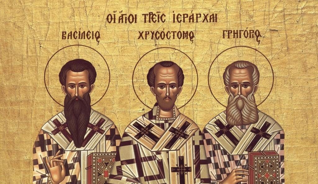 Αποτέλεσμα εικόνας για τρεις ιεραρχες ζωγραφια