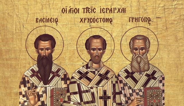 Αποτέλεσμα εικόνας για οι τρεις ιεραρχες στο νηπιαγωγειο