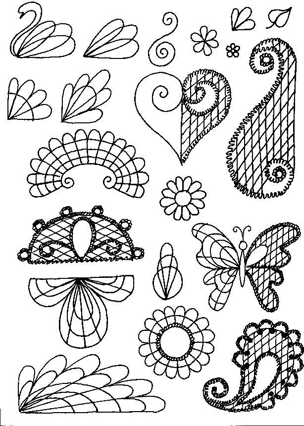 Cake Decorating Flower Templates : SCHOOL OF SUGARCRAFT: designs for piping with chocolate ...