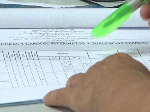 Suspenden inscripción a interinatos y suplencias en Educación